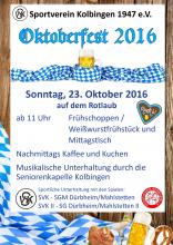 Oktoberfest 2016 Flyer