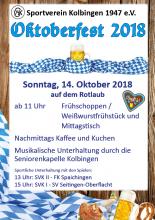 Oktoberfest 2018 Flyer